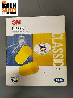 3M Ear  E-A-R Classic Uncorded Earplug, 312-1201 Box 200 Pairs