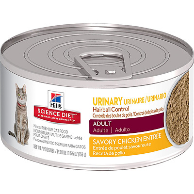 Hill's Science Diet 10641 Adult Urinary Hairball Control Cat Food 24 X 5.5-Ounce