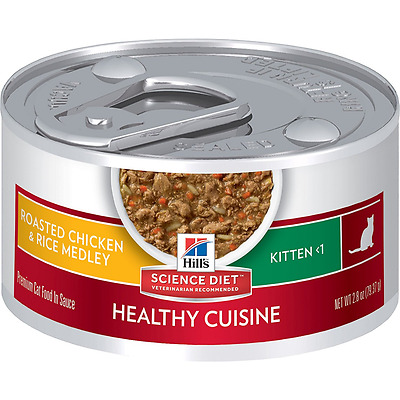 Hill's Science Diet Kitten Healthy Cuisine Roasted Chicken and Rice Medley Cat F