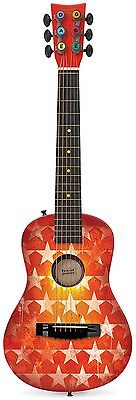 First Act Discovery Designer Acoustic Guitar, Orange Stars