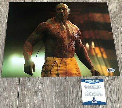 DAVE BAUTISTA SIGNED GUARDIANS OF THE GALAXY DRAX 11x14 PHOTO A w/EXACT PROOF