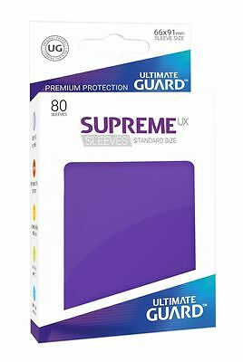 Ultimate Guard - Supreme UX Sleeves Standard Purple 80 Pieces Card Sleeves Cases