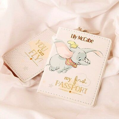Personalised Disney Baby Dumbo My First Passport Holder and Luggage Tag Set Gift