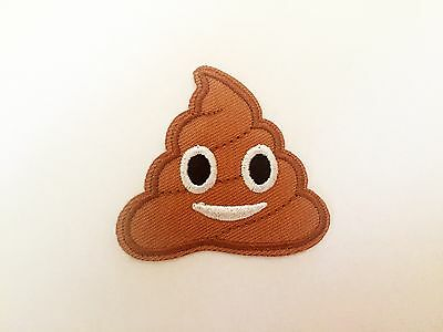 funny smiling poo ice cream emoji SEW IRON ON PATCHES bag hat clothing patch