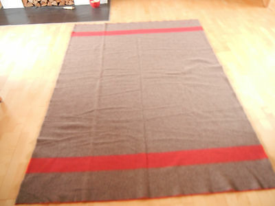 ORIGINAL SWISS ARMY Military Blanket - W 92  WOOL THROW - Nice CONDITION !