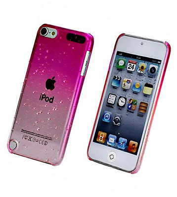 iPod Touch 5th Generation Pink Clear Water Drops Girly Case Snap Cover+2 Free Sc