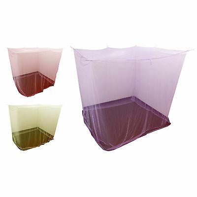 Large Mosquito Bug Insect Protection Net 4 Corner Canopy for Home Travel Garden