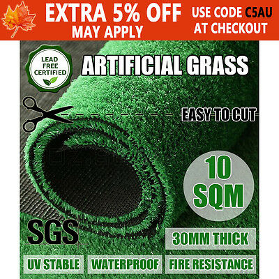2M*5M Artificial Synthetic Grass Plastic Plant Fake Lawn Flooring Durable 30mm
