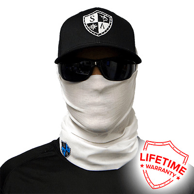 MOTORCYCLE FACE MASK - TACTICAL WHITE - (Moto, Hunting, Fishing, Paintball)