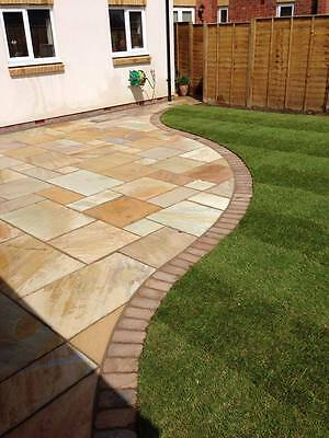 Fossil Mint Indian Sandstone Paving 22mm Calibrated Patio Slabs (15.30m2 Pack)