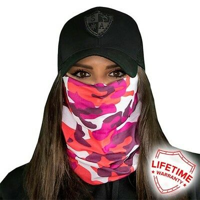 MOTORCYCLE FACE MASK - DESIGNER PINK - (Moto, Hunting, Fishing, Paintball)