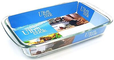 Ultracook Rectangular Roaster with Side Handles (large dish Glass Roasting Dish