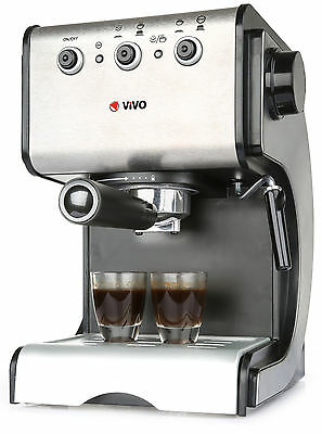 Stainless Steel 1050W 15 Pump Espresso Coffee Maker Machine With Cup Warming New