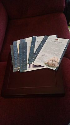 'History of the Royal Navy' £5 coin set 2003-2005 SILVER PROOF