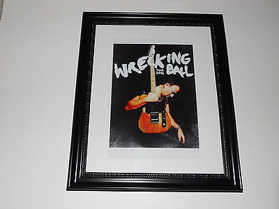 """Large Framed Bruce Springsteen Wrecking Ball Tour 2012 Poster 24"""" by 20"""""""