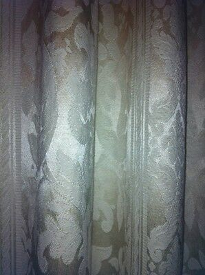 Set of 3 Beautiful custom made pinch pleat curtains/ drapes with hooks included