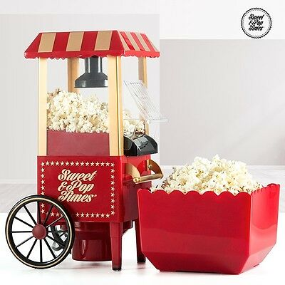 Sweet & Pop Retro Vintage Popcorn Maker Machine For Kids Fun Birthday Parties