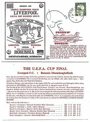 Liverpool 1973 Uefa Cup Final - Emlyn Hughes Signed Postal Cover / Fdc
