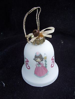 "1997 precious moments christmas holiday bell 2 1/4"" decorative collectible"
