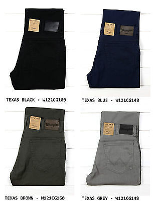 Neu Wrangler Texas Stretch Jeans Hose Regular Straight L30/l32/l34 - Alle Großen