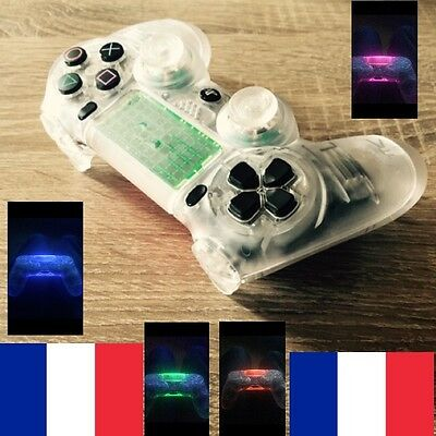 coque transparente nano liquid ps4 manette controller shell playstation