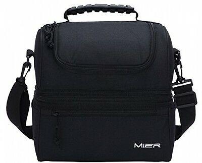 MIER Insulated Lunch Box Large Insulated Cool Tote Bag Lunch Kit For Men, Deck