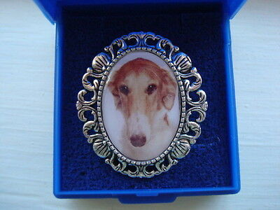 """""""BORZIO"""".  Brooch. Gift Boxed. Great gift."""
