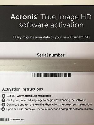 Acronis True Image HD - FAST Email Digital Delivery within 2 Hours or Refund ***