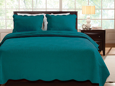 Greenland Home Serenity Teal Quilt Set, 2-Piece (GL-1302MMST)