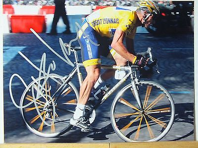 Original Hand Signed 8X6 Photo Of Lance Armstrong