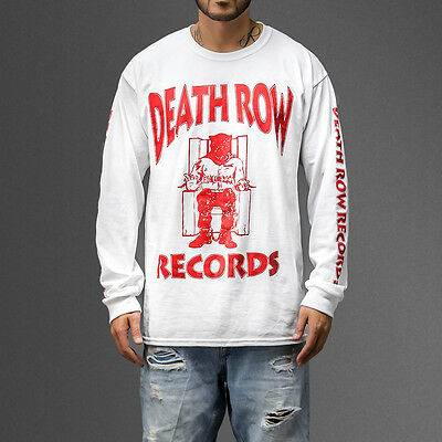 Death Row Records Logo T-shirt Tupac Suge Knight Snoop Dogg  Long Sleeve Tee