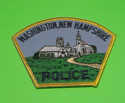 Washington  New Hampshire  Nh   Police Patch   Free Shipping!!!