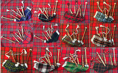 kids Playable Bagpipes,Child Bagpipe Different Tartan Bag Cover/Kids Toy Bagpipe