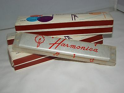 Lot of 3 Vintage Harmonica by Blessing New with Box Musical Instrument