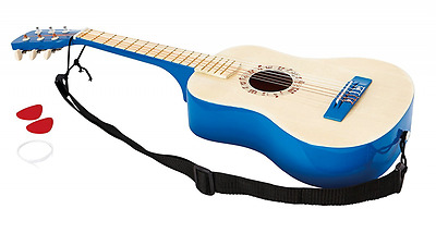 Hape - Early Melodies - Vibrant Guitar Wooden Instrument, Blue