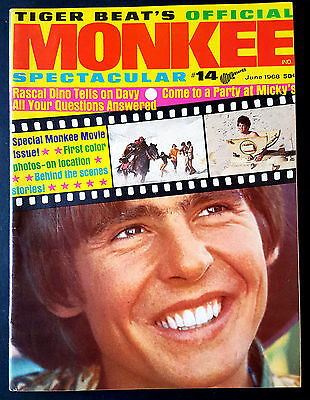 Tiger Beat's Official Monkee Spectacular #14 June 1968 VF+