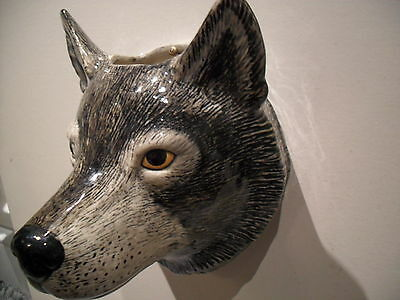 Unusual Wolf Wall Vase By Quail Pottery Boxed Ideal Gift