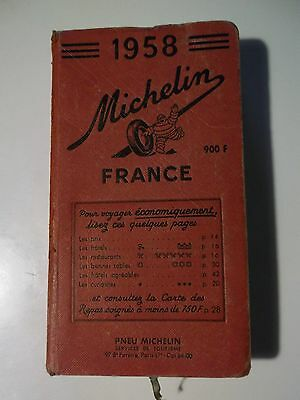 Guide Rouge Michelin 1958
