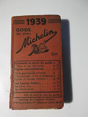 Guide Rouge Michelin 1939