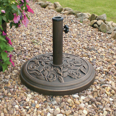 8.5Kg Parasol Base Cast Iron Heavy Duty Umbrella Patio Sunshade Garden Wido