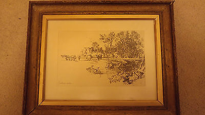 Francis Seymour Haden Cowdray 1882 etching and drypoint framed