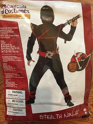 California Costumes Stealth Ninja Halloween Dress Up Costume Large 10-12 NWT