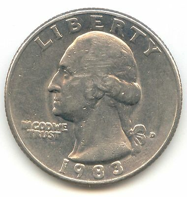USA 1983D Washington Quarter 1983 D 25 Cents American EXACT COIN