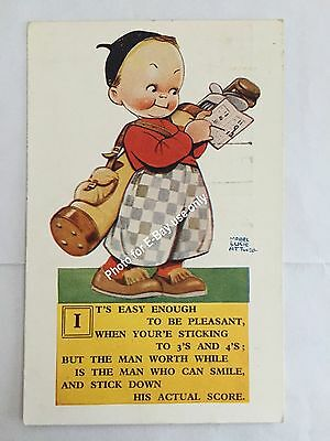 """Signed - Mabel Lucie Attwell """"It's Easy Enough To Be Pleasant"""" #2830"""