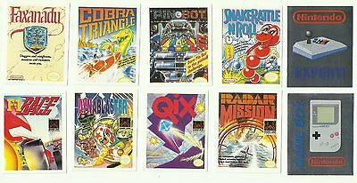 1992 MERLIN Nintendo 8 Games Cover Stickers + 2 Silver Game Boy NES
