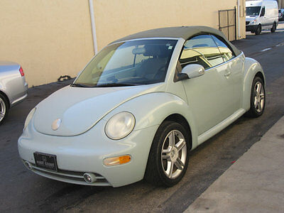 2005 Volkswagen Beetle-New 2dr GLS Automatic 1 OWNER 65000 MILES MECHANIC SPECIAL ACQUARIS BLUE CLEAN CARFAX NONRUNNER