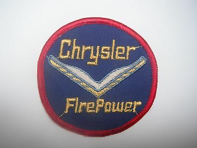 Chrysler Fire Power Engine Patch Vintage Retro Old School NOS Not Remade!