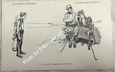 """1897 Life Publishing Co. - C. Dana Gibson - """"Is A Caddy Always Necessary?"""""""