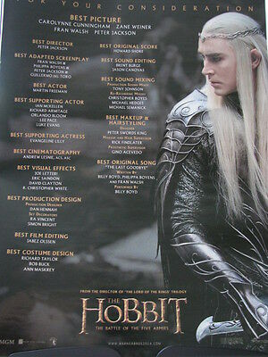 Hobbit Battle of Five Armies  Lee Pace  Oscar Ad  x