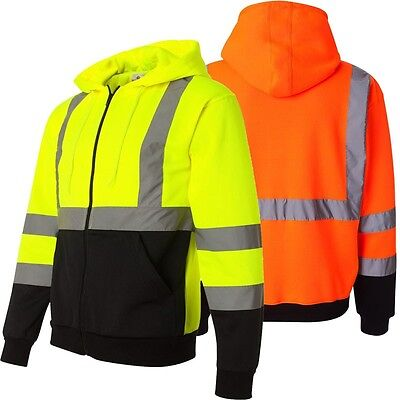 Reflective High Visibility Two Tone  Class 3 Hoodie Sweater Hi Vis
